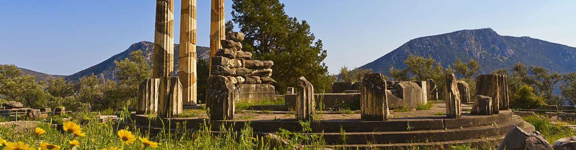 Delphi - Campamentos en Delphi. Mapas de Delphi, Fotos y comentarios de cada Campamento en Delphi.