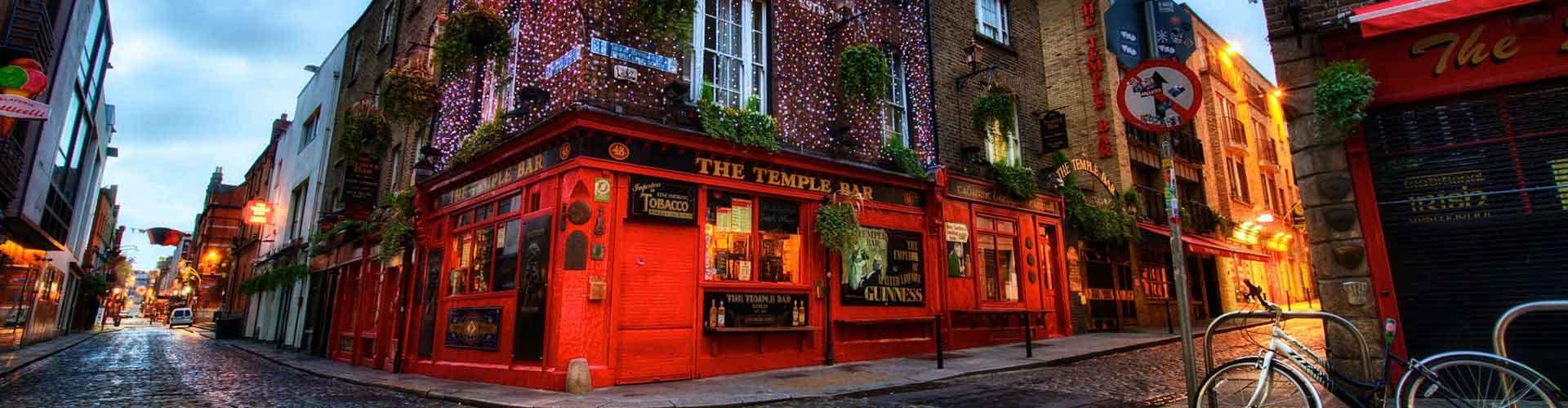 Dublín - Hostales en el distrito Temple Bar. Mapas de Dublín, Fotos y comentarios de cada Hostal en Dublín.