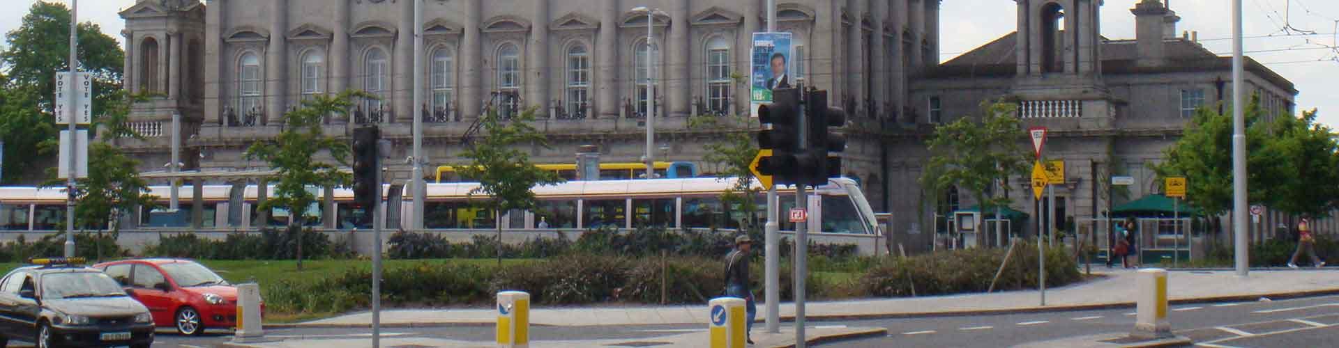 Dublín - Hostales cerca a Estación de tren de  Dublín . Mapas de Dublín, Fotos y comentarios de cada Hostal en Dublín.