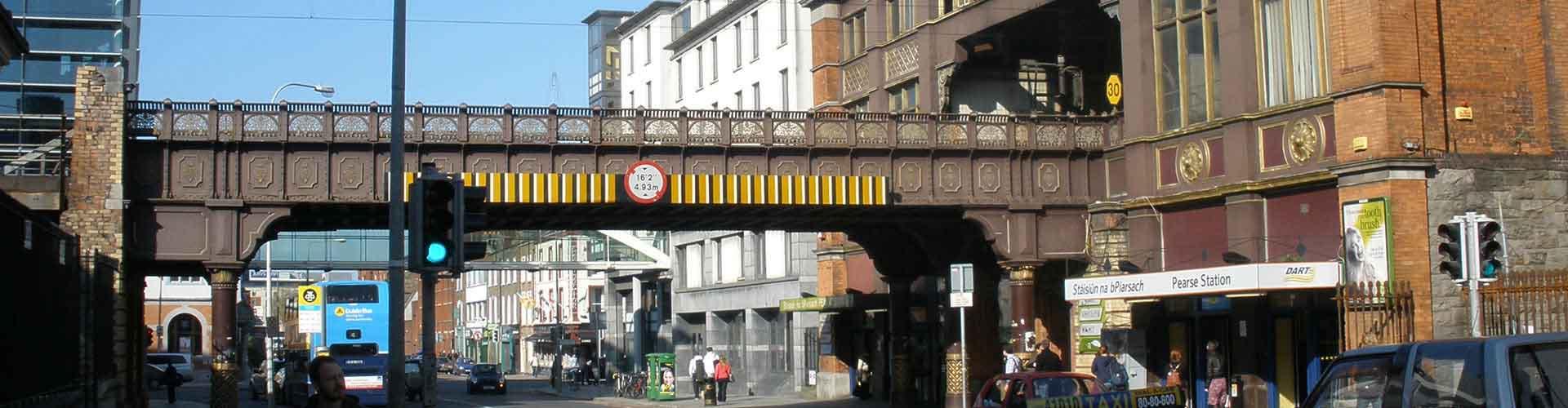 Dublín - Hostales cerca a Dublin Pearse la estación de tren. Mapas de Dublín, Fotos y comentarios de cada Hostal en Dublín.