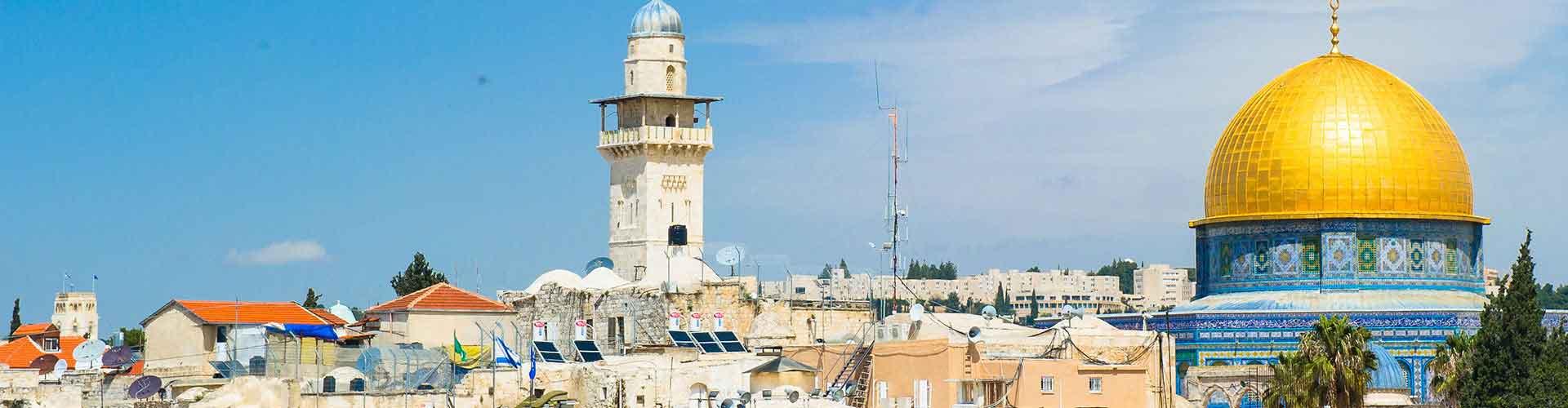 Jerusalén - Hostales en el distrito Nahalat Shiv'a. Mapas de Jerusalén, Fotos y comentarios de cada Hostal en Jerusalén.