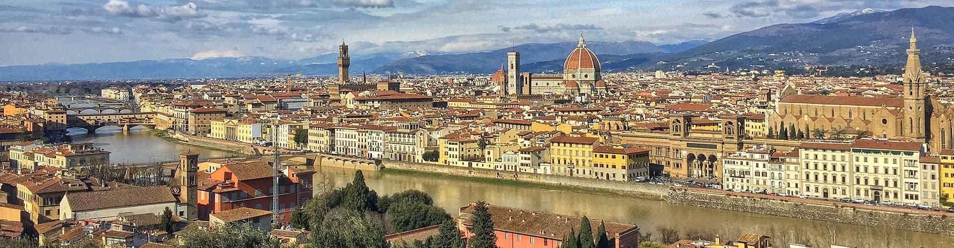 Florencia - Hostales en el distrito Duomo - Oltrarno. Mapas de Florencia, Fotos y comentarios de cada Hostal en Florencia.