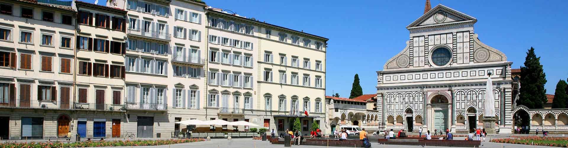 Florencia - Hostales en el distrito Santa Maria Novella. Mapas de Florencia, Fotos y comentarios de cada hostal en Florencia.