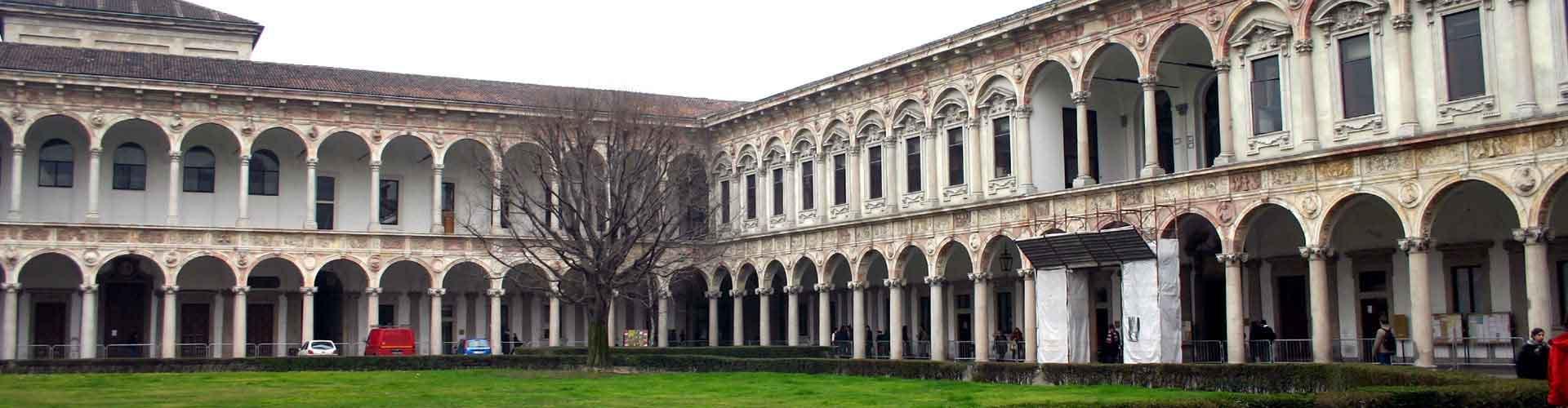 Milán - Hostales en el distrito Ospedale Maggiore. Mapas de Milán, Fotos y comentarios de cada Hostal en Milán.