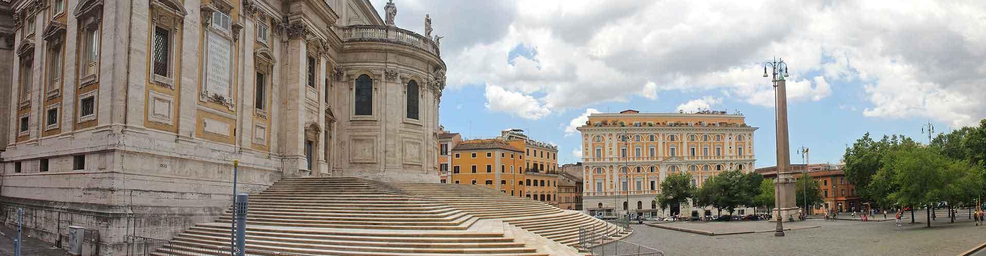 Roma - Campamentos en el distrito Esquilino. Mapas de Roma, Fotos y comentarios de cada Campamento en Roma.