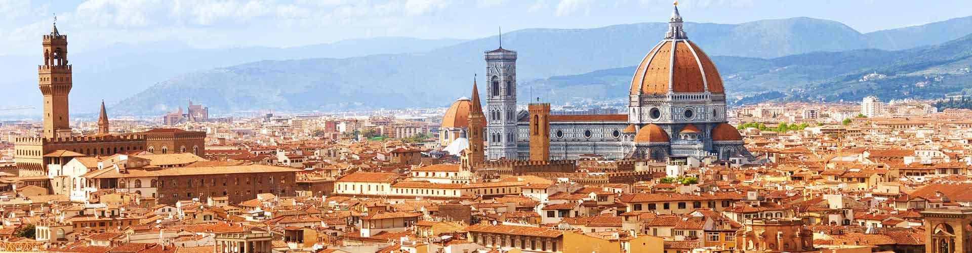 Florencia - Hostales en el distrito Leon Bianco. Mapas de Florencia, Fotos y comentarios de cada hostal en Florencia.