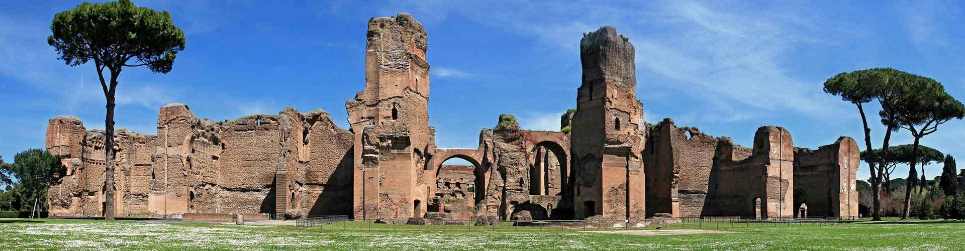 Roma - Hostales cerca a Termas de Caracalla. Mapas de Roma, Fotos y comentarios de cada Hostal en Roma.