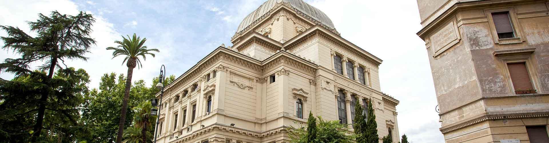Roma - Hostales cerca a Gran Sinagoga de Roma. Mapas de Roma, Fotos y comentarios de cada Hostal en Roma.