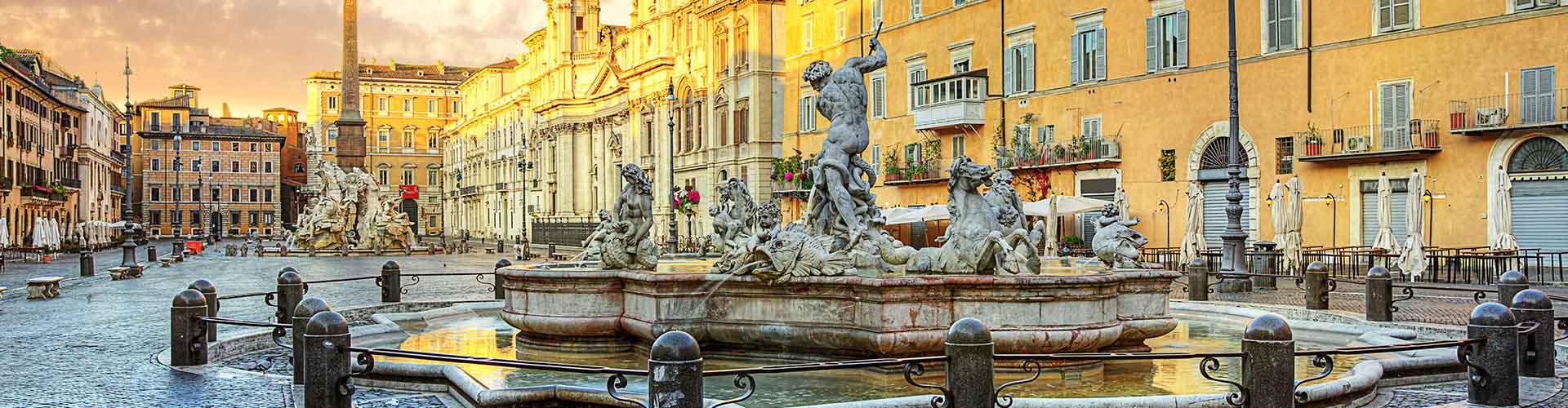 Roma - Hostales cerca a Piazza Navona. Mapas de Roma, Fotos y comentarios de cada Hostal en Roma.