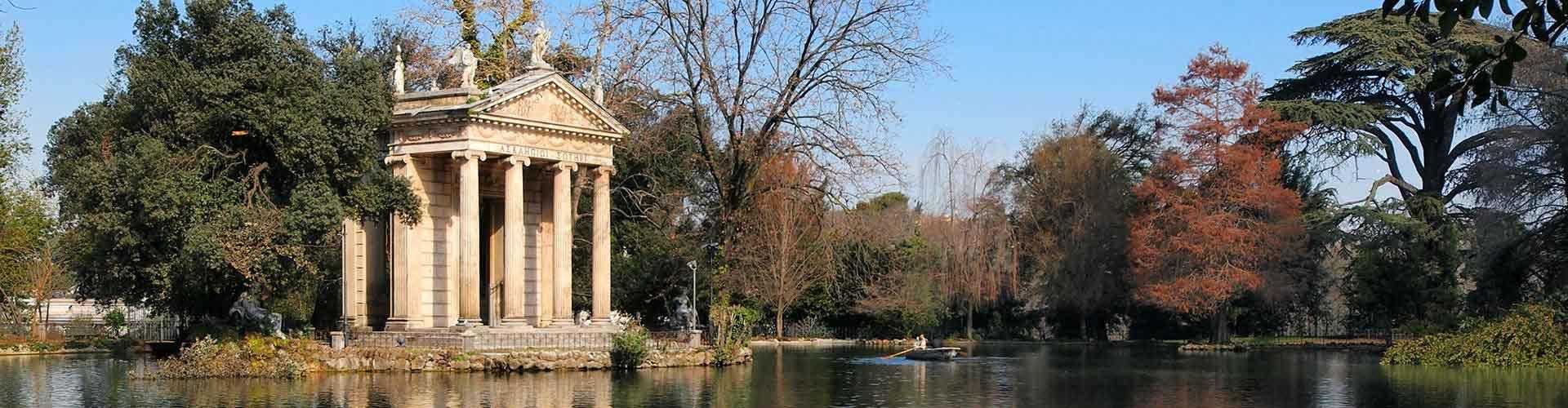 Roma - Hostales cerca a Villa Borghese. Mapas de Roma, Fotos y comentarios de cada Hostal en Roma.