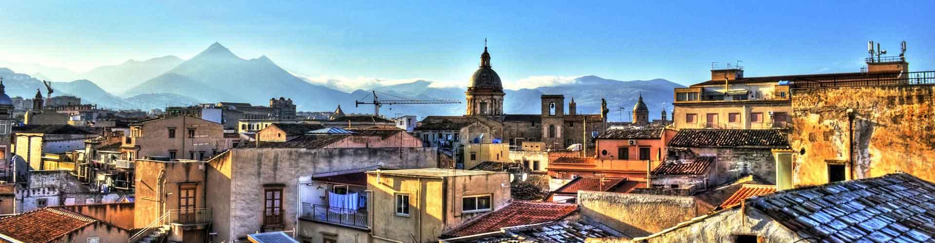 Palermo - Hostales en el distrito Partanna-Mondello. Mapas de Palermo, Fotos y comentarios de cada Hostal en Palermo.