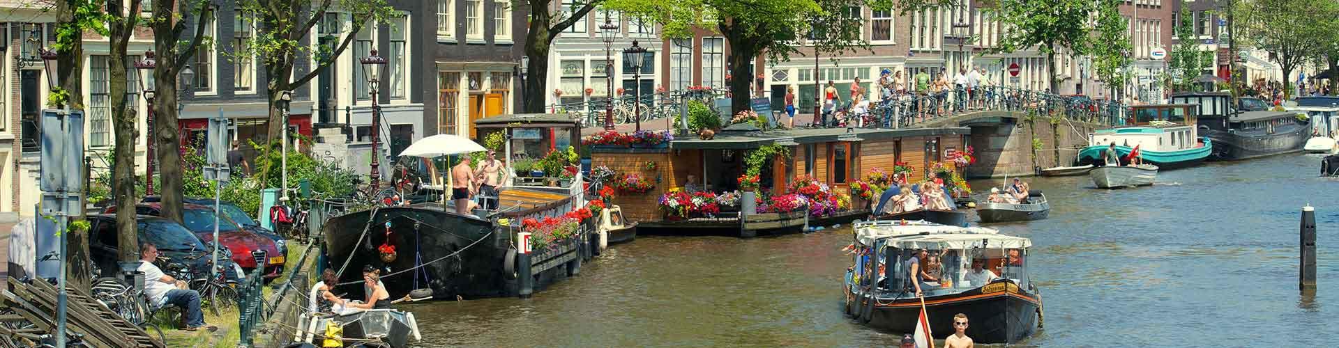 Amsterdam - Hostales en el distrito Amsterdam Centrum. Mapas de Amsterdam, Fotos y comentarios de cada Hostal en Amsterdam.