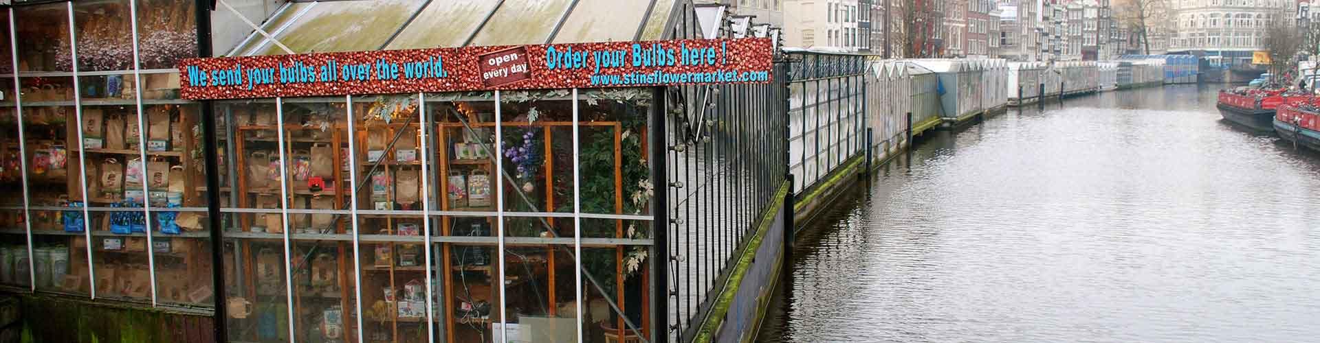 Amsterdam - Hostales cerca a Mercado de las Flores. Mapas de Amsterdam, Fotos y comentarios de cada Hostal en Amsterdam.