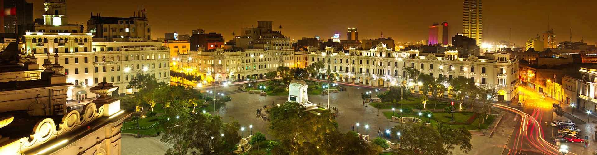 Lima - Hostales en el distrito San Miguel de Miraflores. Mapas de Lima, Fotos y comentarios de cada Hostal en Lima.
