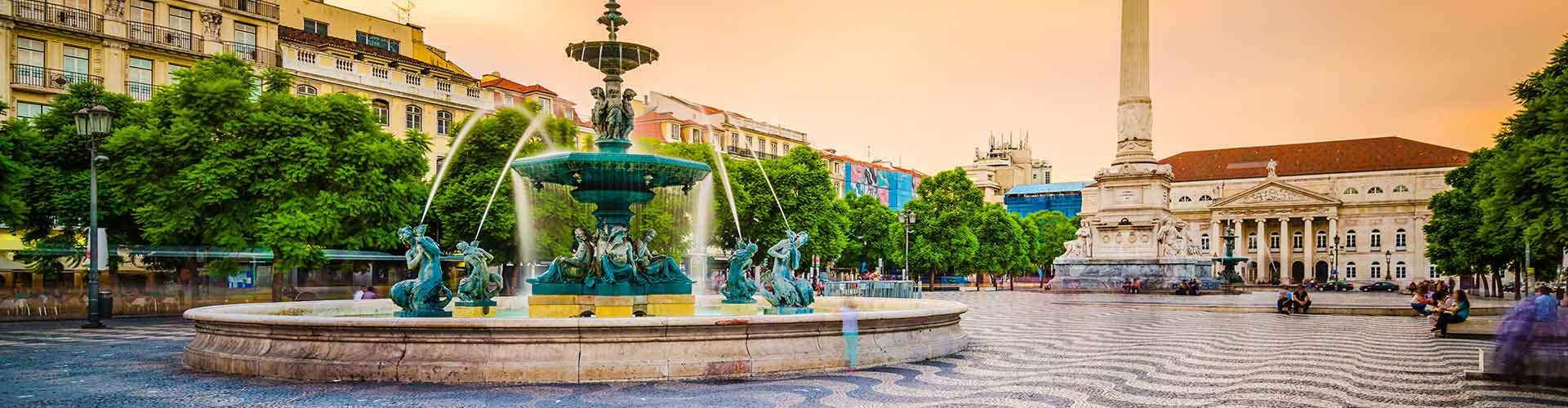 Lisboa - Hostales en el distrito Baixa. Mapas de Lisboa, Fotos y comentarios de cada Hostal en Lisboa.