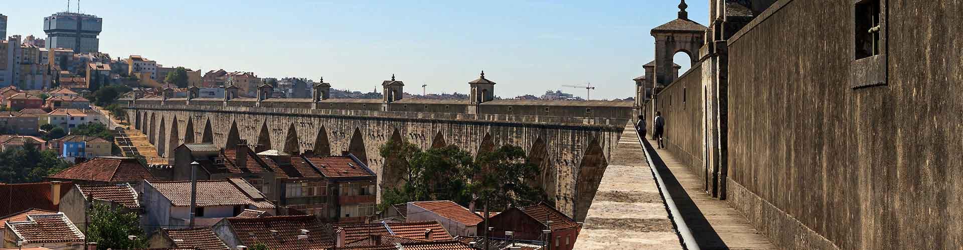 Lisboa - Habitaciones cerca a Águas Livres Acueducto. Mapas de Lisboa, Fotos y comentarios de cada Habitación en Lisboa.