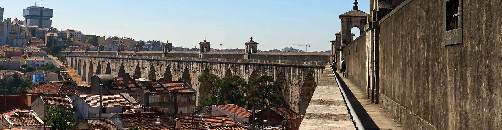 Lisboa - Hostales cerca a Águas Livres Acueducto. Mapas de Lisboa, Fotos y comentarios de cada Hostal en Lisboa.