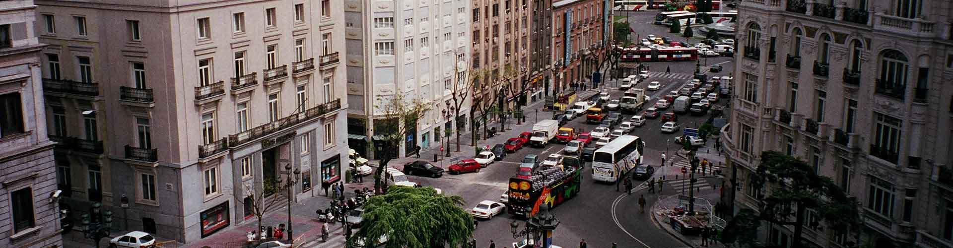 Madrid - Hostales en el distrito Cortes. Mapas de Madrid, Fotos y comentarios de cada Hostal en Madrid.