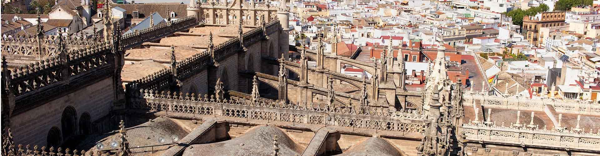 Sevilla - Hoteles baratos en el distrito El Arenal. Mapas de Sevilla, Fotos y comentarios de cada Hotel barato en Sevilla.