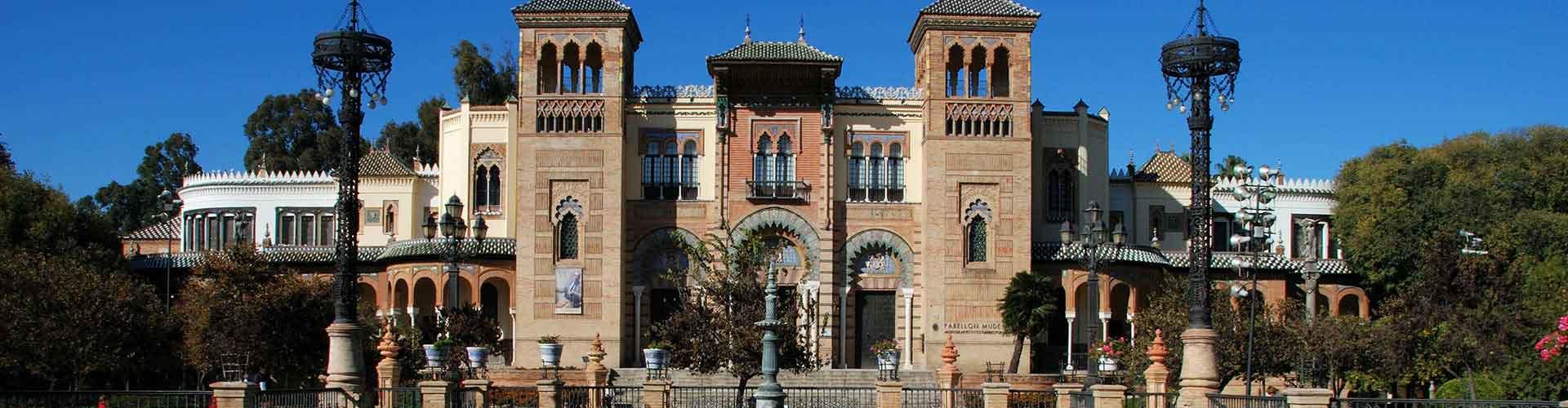 Sevilla - Hostales en el distrito Museo. Mapas de Sevilla, Fotos y comentarios de cada Hostal en Sevilla.