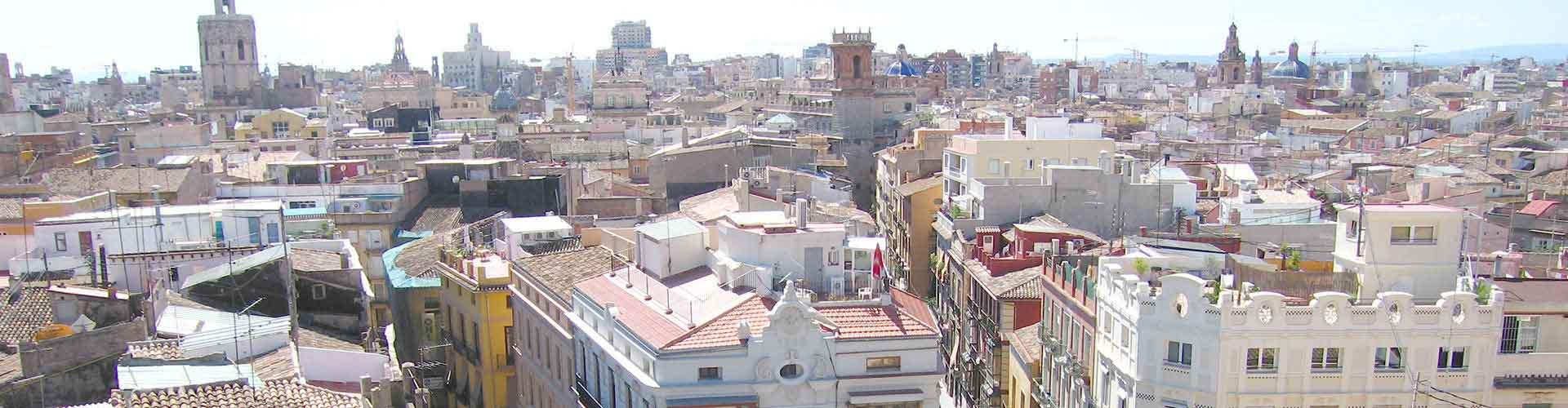 Valencia - Hostales en el distrito Ciutat Vella. Mapas de Valencia, Fotos y comentarios de cada Hostal en Valencia.