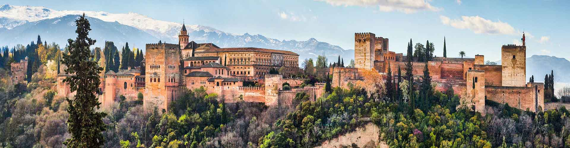 Granada - Campamentos cerca a Generalife. Mapas de Granada, Fotos y comentarios de cada Campamento en Granada.
