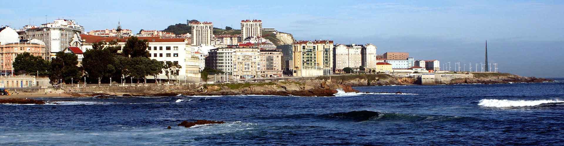 La Coruña - Hostales en La Coruña. Mapas de La Coruña, Fotos y comentarios de cada Hostal en La Coruña.