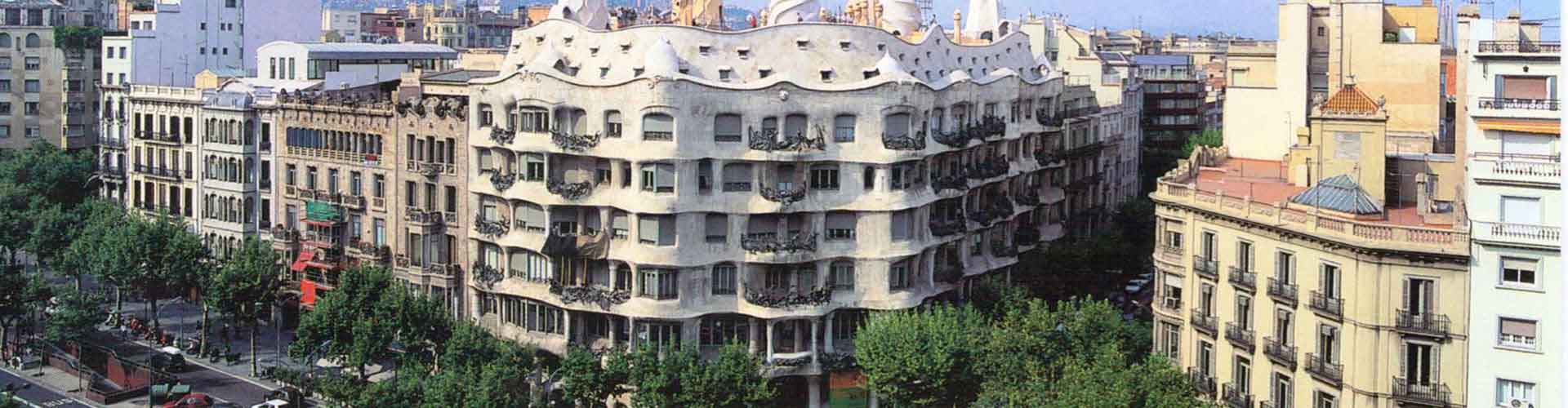 Barcelona - Hostales cerca a Casa Milà. Mapas de Barcelona, Fotos y comentarios de cada Hostal en Barcelona.