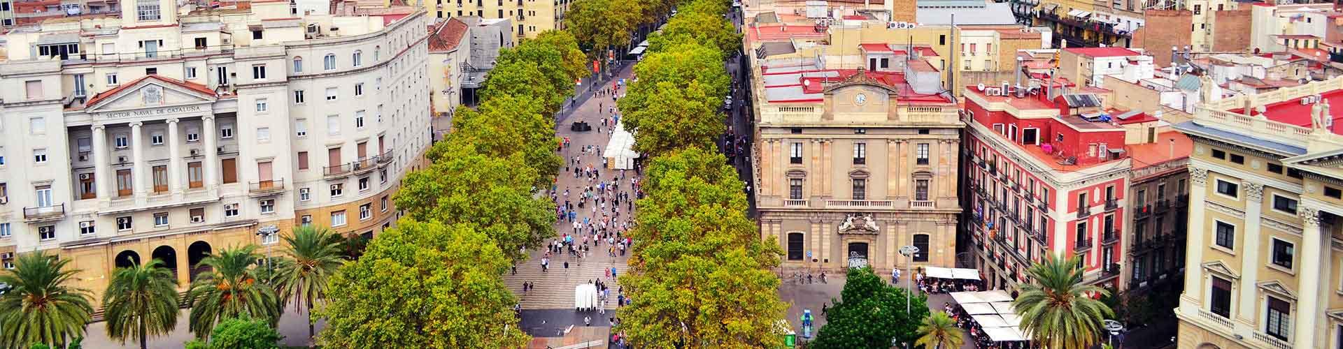 Barcelona - Hostales cerca a Las Ramblas. Mapas de Barcelona, Fotos y Comentarios para cada hostal en Barcelona.