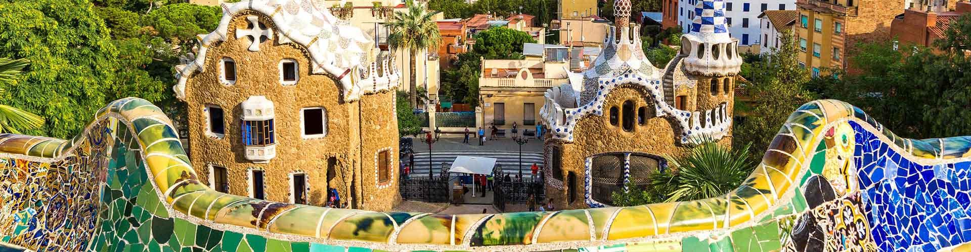 Barcelona - Hostales cerca a Park Güell. Mapas de Barcelona, Fotos y comentarios de cada Hostal en Barcelona.