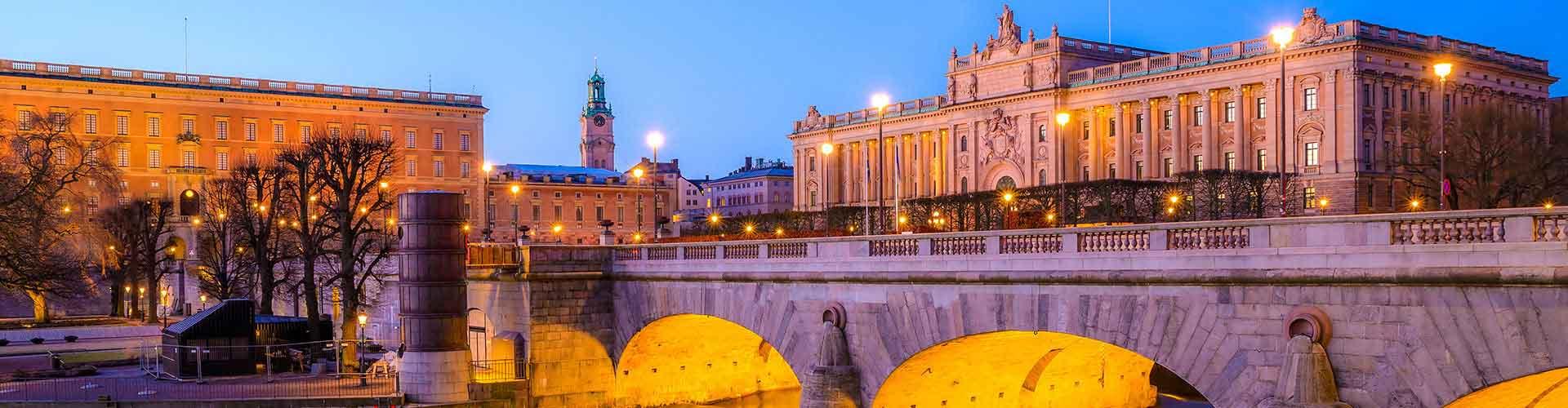 Estocolmo - Hoteles baratos en el distrito Gamla Stan. Mapas de Estocolmo, Fotos y comentarios de cada Hotel barato en Estocolmo.