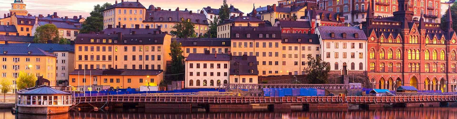 Estocolmo - Hoteles baratos en el distrito Södermalm. Mapas de Estocolmo, Fotos y comentarios de cada Hotel barato en Estocolmo.
