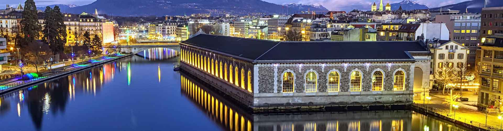 Ginebra - Campamentos en el distrito Pâquis-Temple. Mapas de Ginebra, Fotos y comentarios de cada Campamento en Ginebra.
